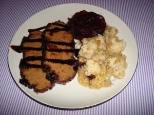 seitan tofurkey & cauliflower chickpeas casserole