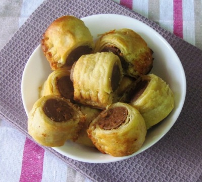 Puff Pastry Hot Dogs Recipe Hot Dogs Rolled in Puff Pastry