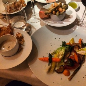 all about the veggies - Fresh vegetables, ricecream and vegetable chips