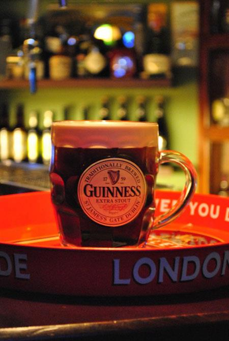 Guinness mug at the Local Pub